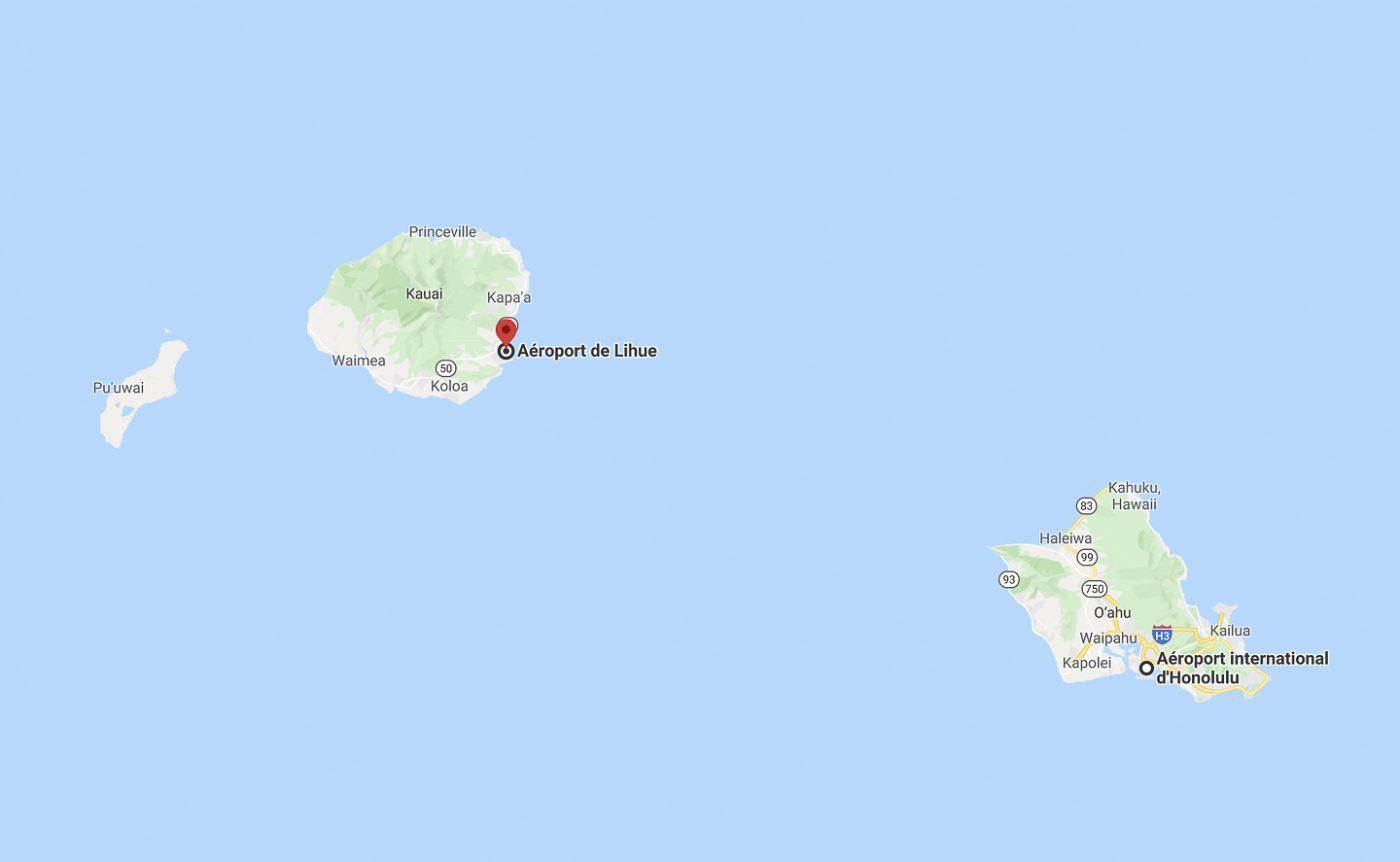 vol  Honolulu - Kauai