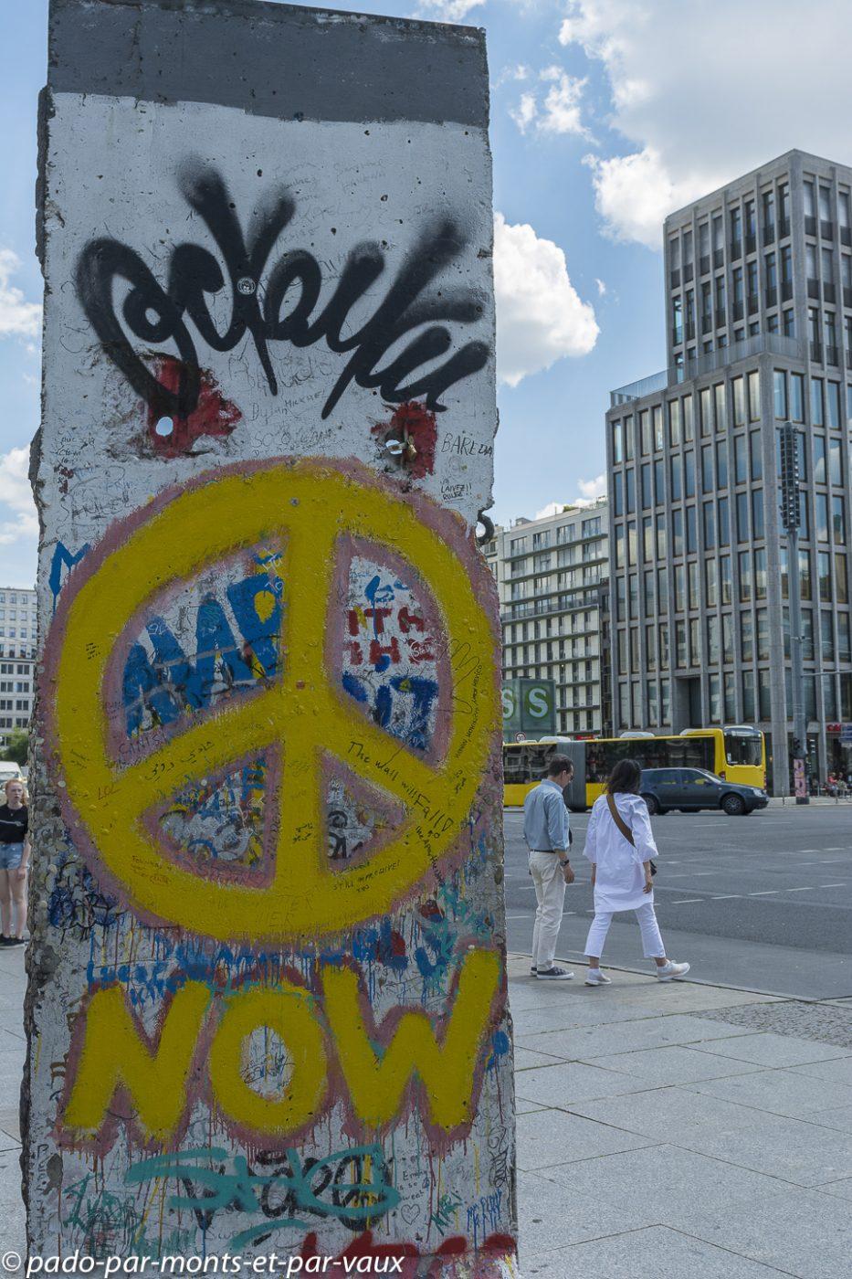 Berlin - Postdamer platz - restes du mur