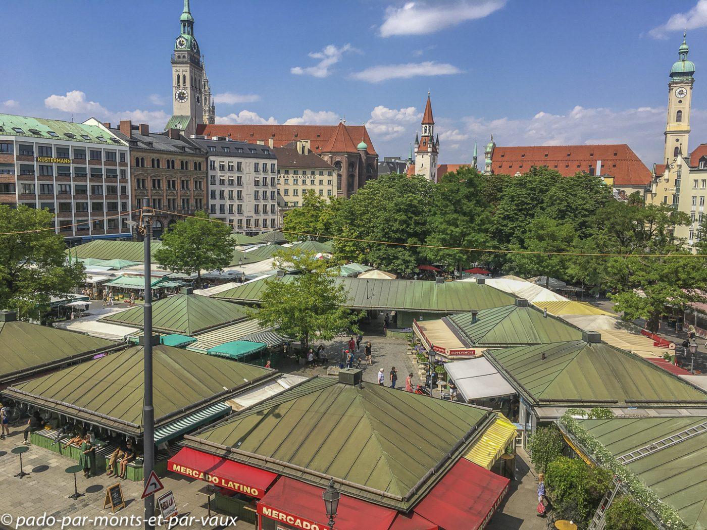 Munich - vue de notre chambre d'hôtel