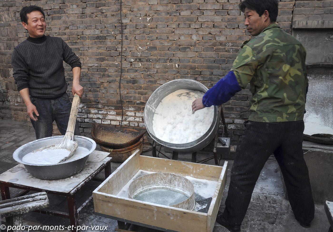 fabrication des Yuanxiao