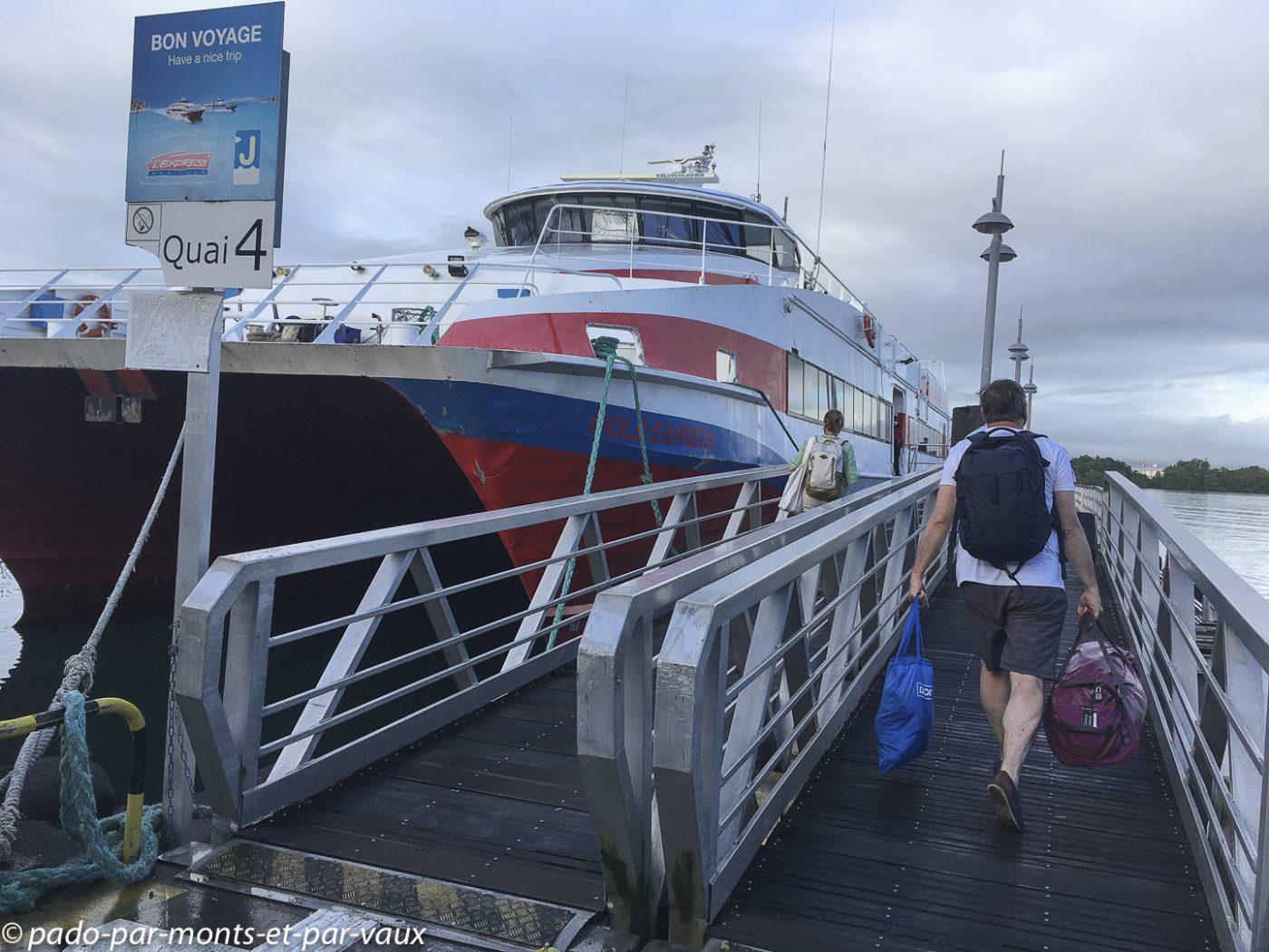 Embarcadère pour les îles