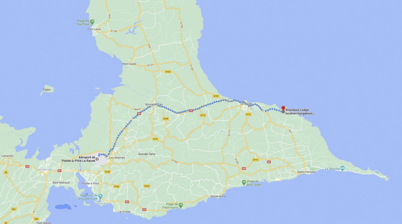 Guadeloupe-Trajet 8 janvier