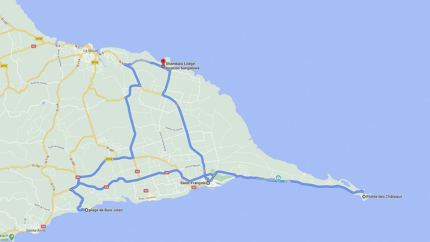 Guadeloupe - Trajet 9 janvier